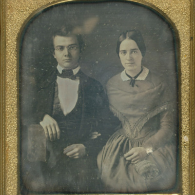 William W. Scudder with his wife Catharine