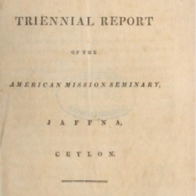 The second triennial report of the American Mission Seminary, Jaffna, Ceylon.